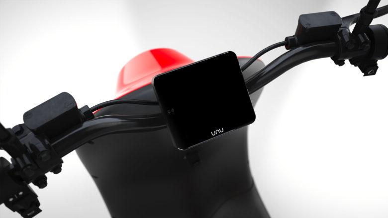 Der neue unu-Roller hat ein Display. © unu