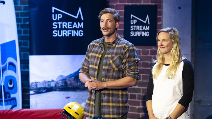 Michael Strobel und Livia Wöll von Up Stream Surfing. © Gerry Frank