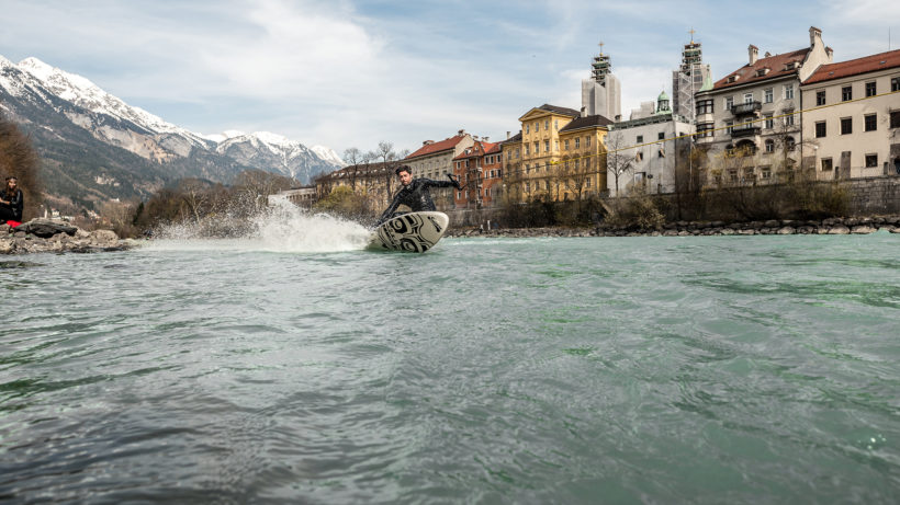 Up Stream Surfing in Innsbruck. © Chris Riefenberg