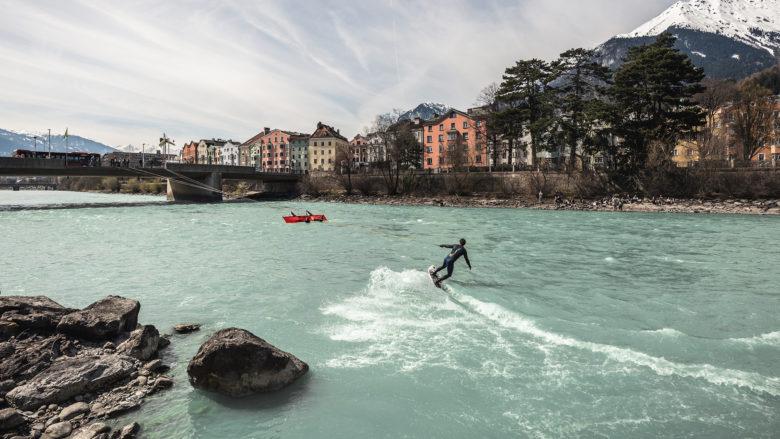 Up Stream Surfing in Innsbruck. © Chris Riefenberg
