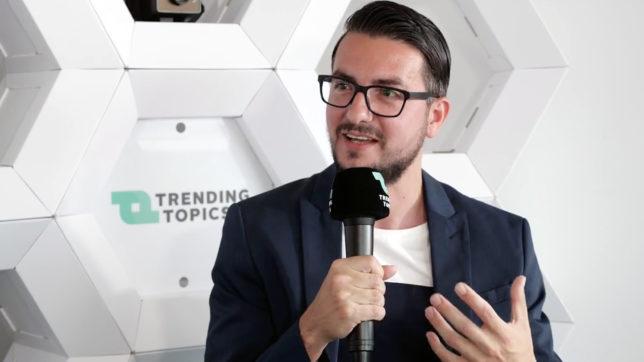 Vlad Gozman, Mitgründer von involve.me. © Trending Topics