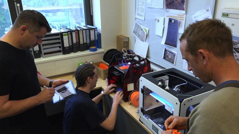 3D-Drucker im Einsatz. © Wiener Linien