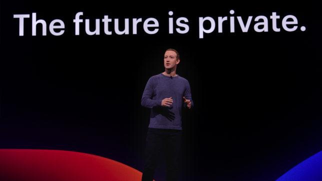 Mark Zuckerberg präsentiert auf der F8-Konferenz in Kalifornien. © Facebook