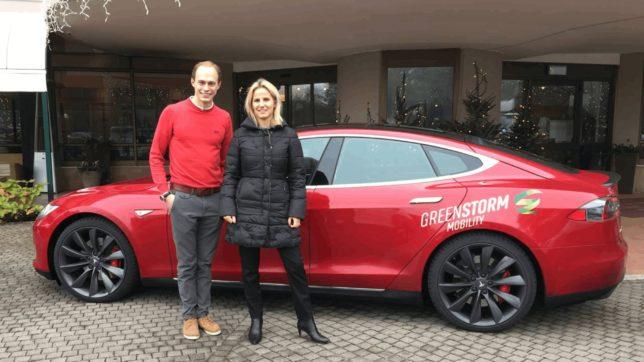 Philipp Zimmermann von Greenstorm mit Patricia Gruber vom Hotel Esplanade Tergesteo in Montegrotto, Italien © Greenstorm