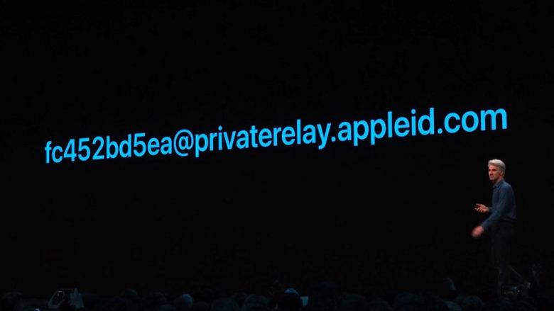 """So soll eine Random Mail-Adresse für """"Sign in with Apple"""" etwa aussehen. © Apple"""