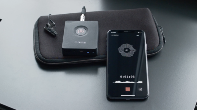 Mikme Pocket mit passender Smartphone-App. © Mikme