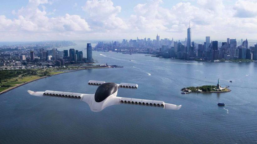 Noch eine Foto-Montage: Lilium-Jet über New York. © Lilium
