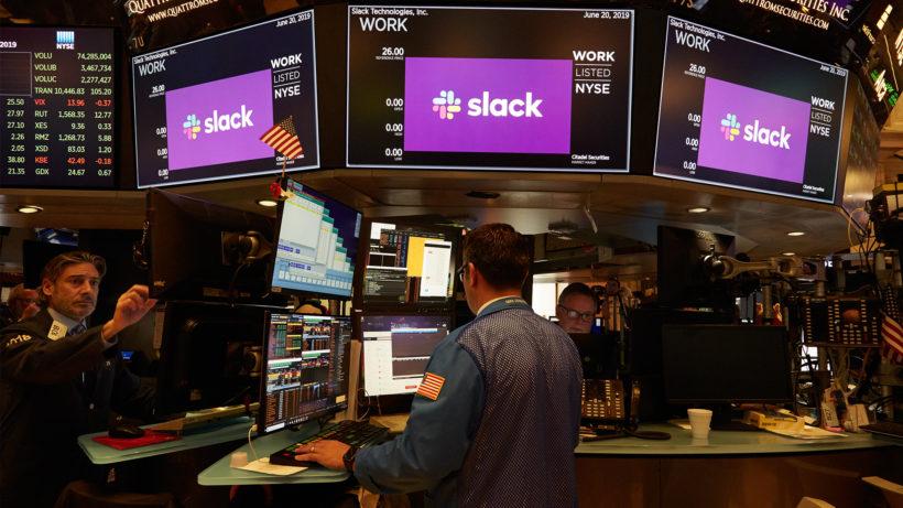 Slack an der New Yorker Börse. © Slack