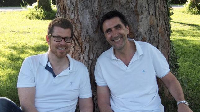 Hannes Steiner und Martin Blank, die Gründer von story.one. © Storylution