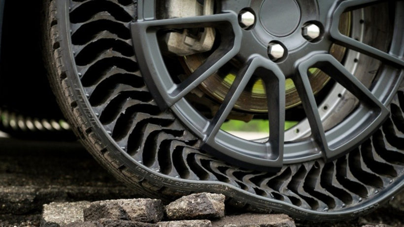Der Uptis-Reifen. © Michelin