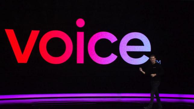 Brendan Blumer, CEO von block.one, präsentiert Voice. © block.one