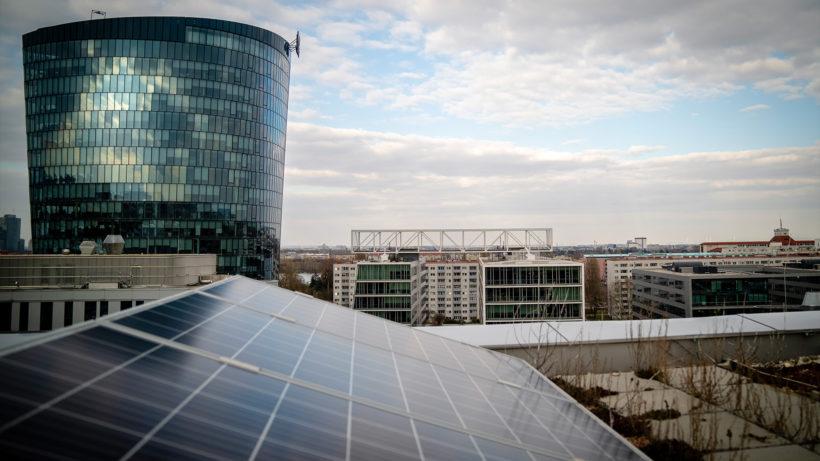 PV-Anlage im Viertel Zwei. © Wien Energie