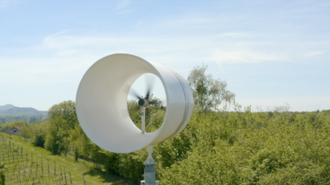 Die Windturbine von Blue Power. © Blue Power