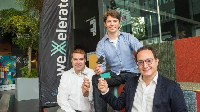 Dominik Greiner (weXelerate), Georg Hauer (N26) und Awi Lifshitz (weXelerate). © Jacqueline Godany