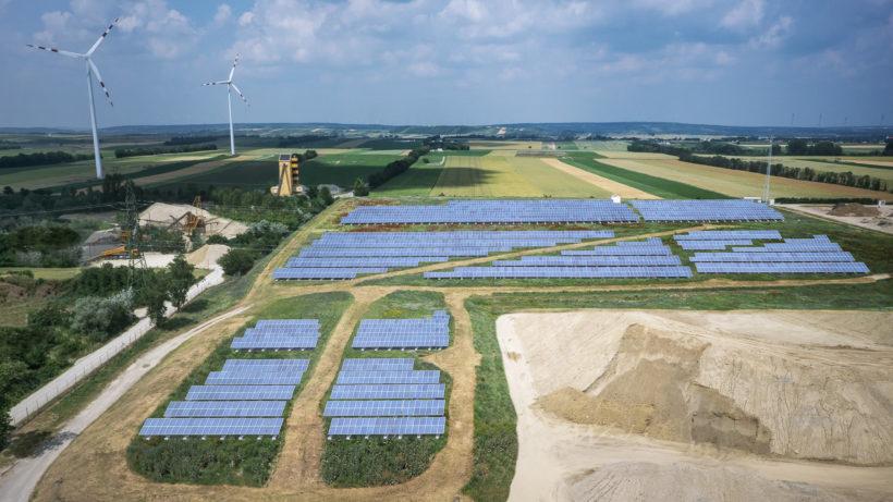 So soll der Teilabschnitt der Solaranlage in Schönkirchen aussehen © Verbund