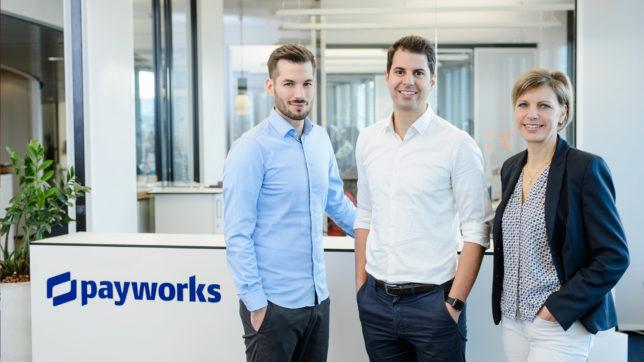 David Bellem, Christian Deger und Heike O'Donnell von Payworks. © Payworks