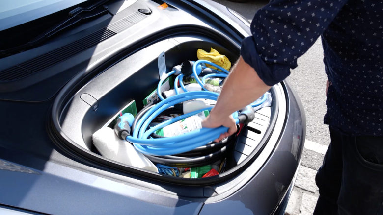 Der vordere Kofferraum des Model 3. © Trending Topics