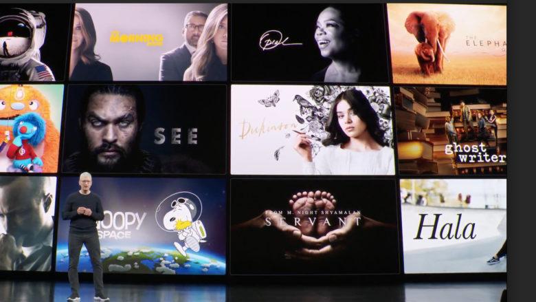 Tim Cook präesntiert Apple TV+. © Apple