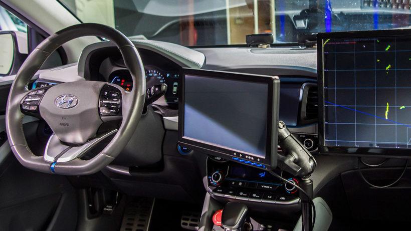 Der Ioniq mit Level 4 von innen. © Hyundai