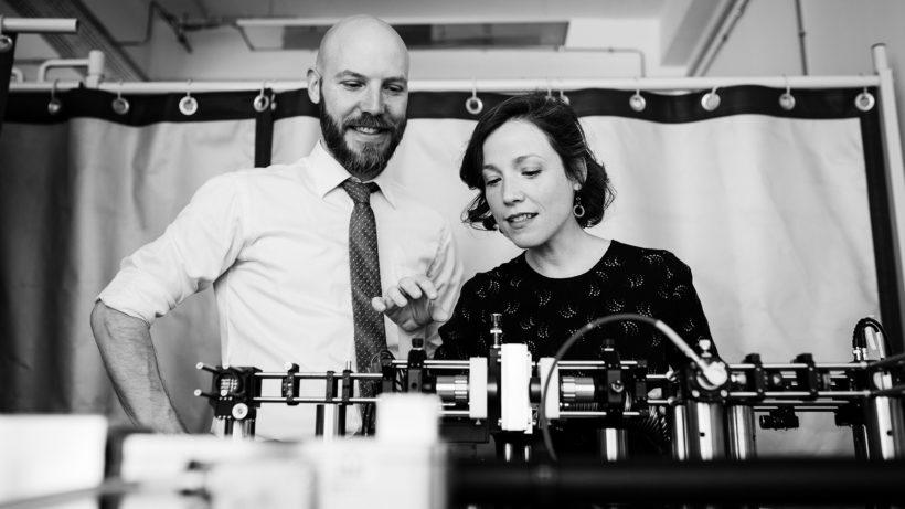 Silvan Schmid und Josiane Lafleur, die beiden Gründer von Invisible Light Labs. © Romana Maalouf Photography