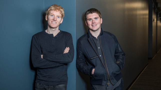 Patrick und John Collison, die beiden Gründer von Stripe. © Stripe