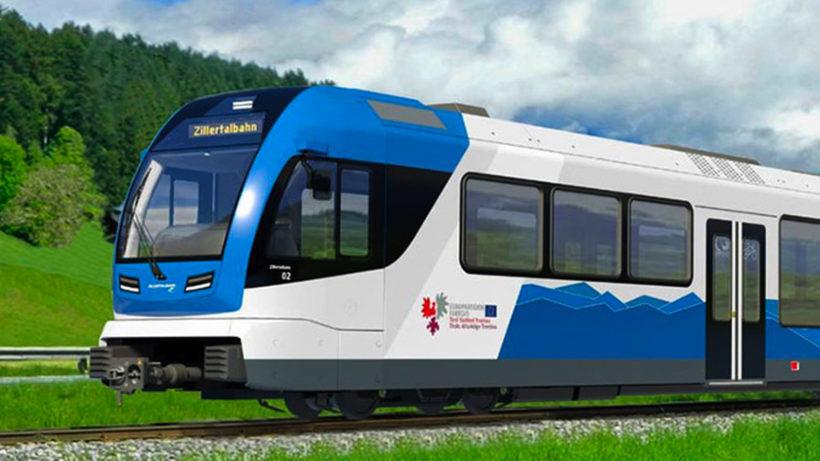 So soll der Brennstoffzellen-Zug im Zillertal aussehen. © ZVB AG