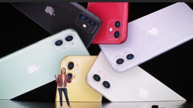 Das iPhone 11 kommt in sechs Farben. © Apple
