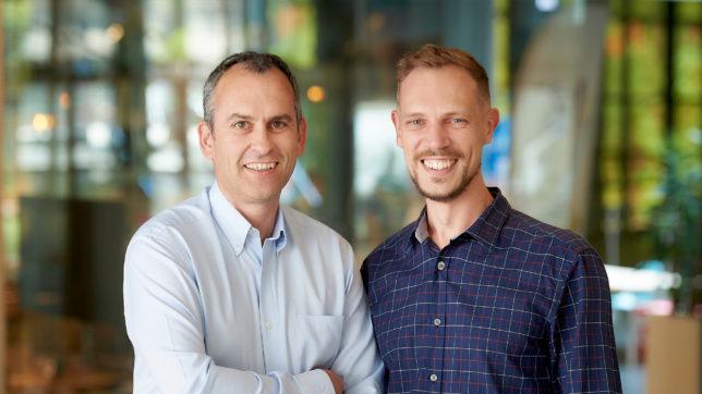 AppRadar-CEO Thomas Kriebernegg und sein neuer Chairman Michael Müller. © Sabine Klimpt