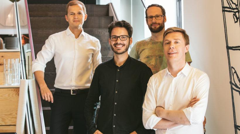 Martin Lenz, Matthias Hutterer, Klaus Purer und Klaus Furtmüller von Jobiqo. © Marko Zlousic