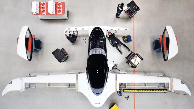 Der Lilium Jet im Hangar. © Lilium