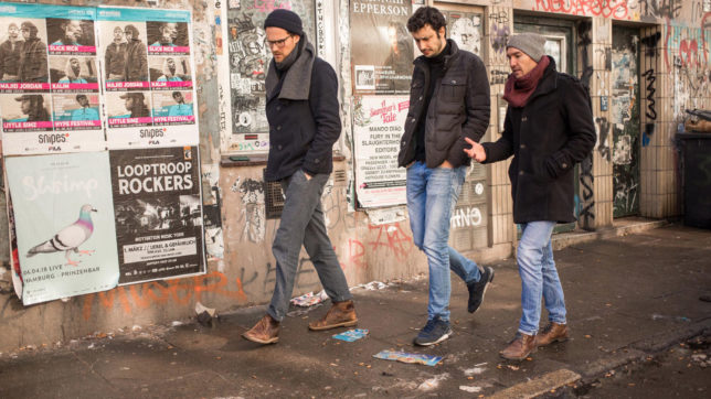 Die Tomorrow-Gründer Inas Nureldin, Michael Schweikart und Jakob Berndt. © Viertel vor Mag