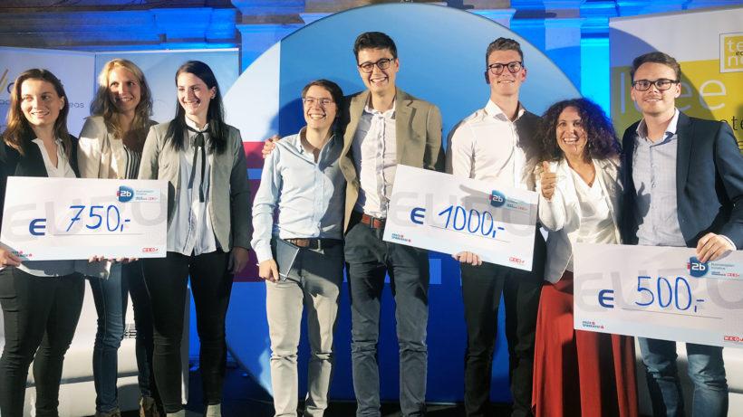 Gründerinnen und Gründer von Vinotaria, Kern-Tec und linx4. © Trending Topics