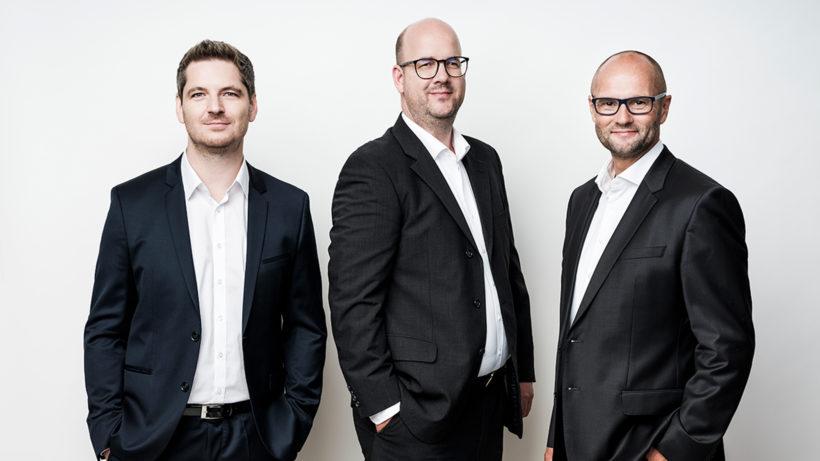 Reinhard Holzner, Nikolaus Rosenmayr und Gert Fahrnberger von Smint.io. © Robert Maybach