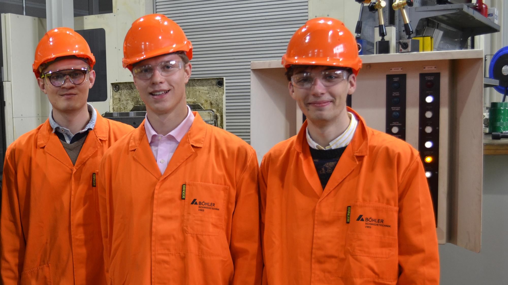 Moritz Stephan (Mitte) und Julian Rothenbuchner (rechts) © Team Tumbleweed