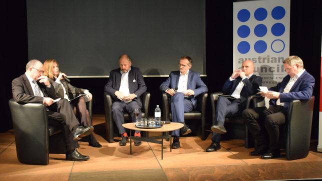 Wie könnte ein Dachfonds aussehen, der in Österreich mehr Risikokapital hebelt? Eine durchaus hitzige Diskussion im Haus der Musik © RFTE