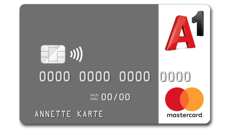 A nette Karte von A1 und Mastercard. © paybox Bank AG