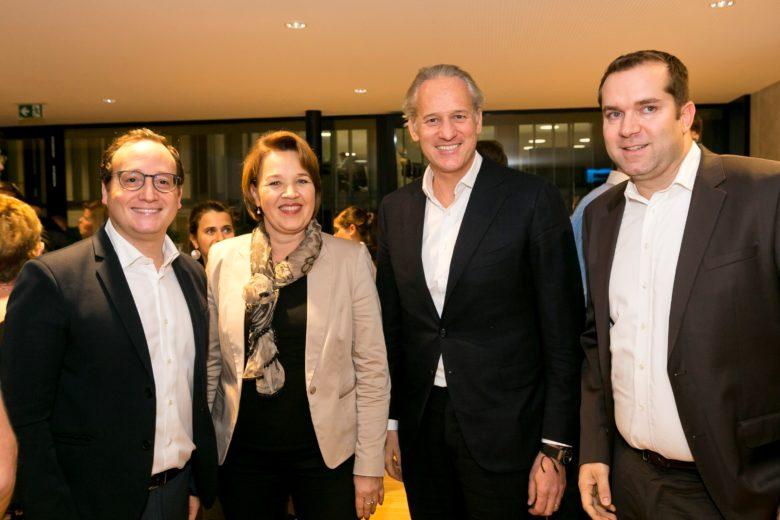 Awi Lifshitz (weXelerate), Andrea Kaufmann (Stadt Dornbirn), Martin Ohneberg (IV) und Dominik Greiner (weXelerate). © weXelerate
