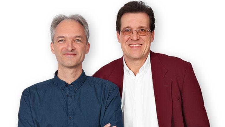 Roland Huber und Gerd Wolfinger, die Gründer von HomeShadows. © HomeShadows