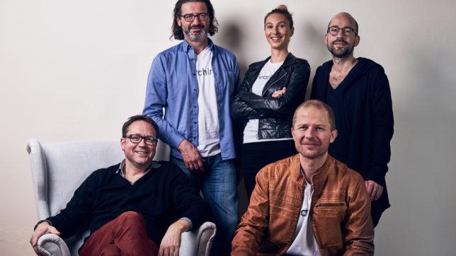 Die omni:us-Gründer Stephan Dorfmeister (CFO), Sofie Quidenus-Wahlforss (CEO), Eric Pfarl (CXO), Martin Micko (COO) und Harald Gölles (CTO). © omni:us