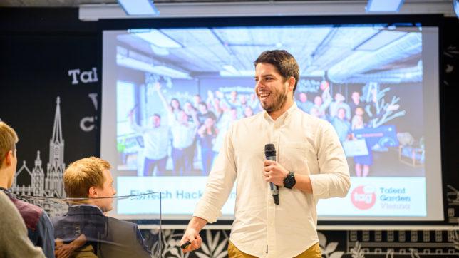 Am Fintech Hackathon in Wien. © Sebastian Kreuzberger