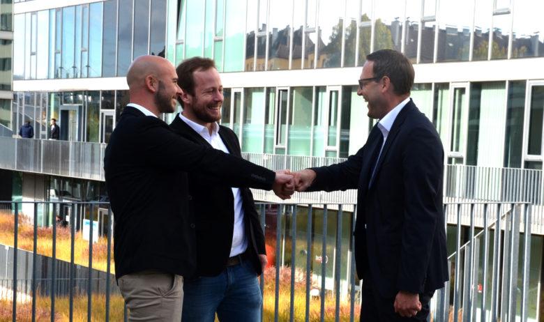 Die pinstry-Gründer Raphael Remhof, Dominik Pühringer und Florian Schnitzhofer. © pinstry