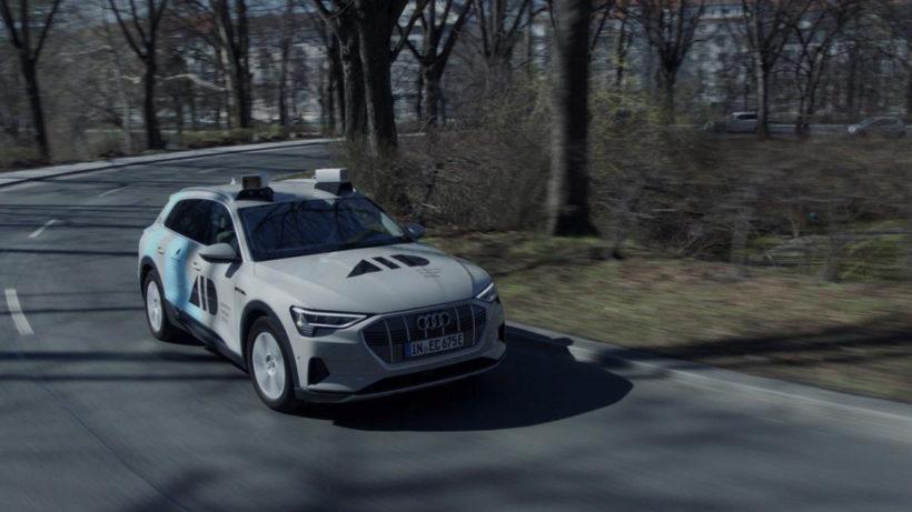Aeva-Sensoren auf dem Dach eines Audi. © Aeva Inc.