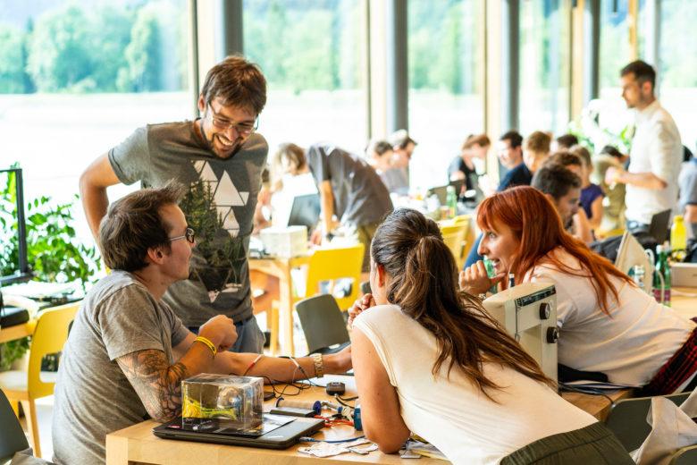 Umma Hüsla Hackathon 2019 mit 200 Teilnehmern und Teilnehmerinnen in Vandans. © Fabrizio Prizzi