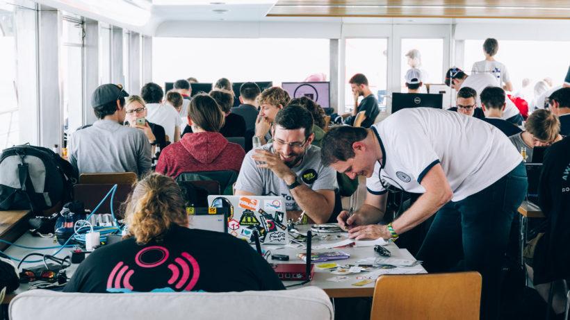 Umma Hüsla Hackathon 2018 mit 250 Teilnehmern und Teilnehmerinnen auf der MS Vorarlberg auf dem Bodensee. © Weissengruber Partner