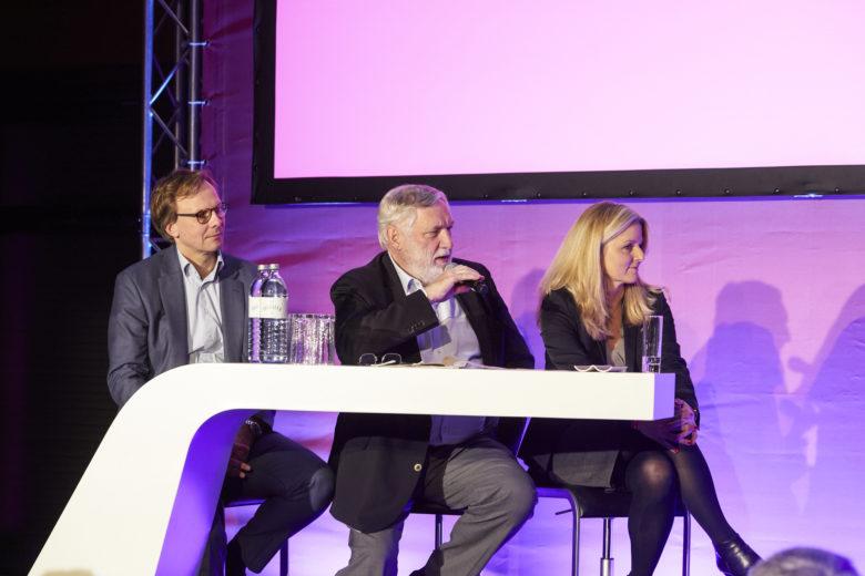 Jury-Mitglieder Andreas Bierwirth (Magenta Telekom), Franz Fischler und Sasha Walleczek. © Magenta Telekom/Katharina Stögmüller