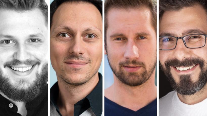 Adrian Zettl, Michael Ionita, Daniel Horak und Can Ertugrul. © AustrianStartups