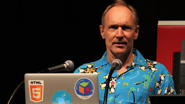 Sir Tim Berners-Lee anno 2013. © Kristina D.C. Hoeppner (CC BY-SA 2.0)