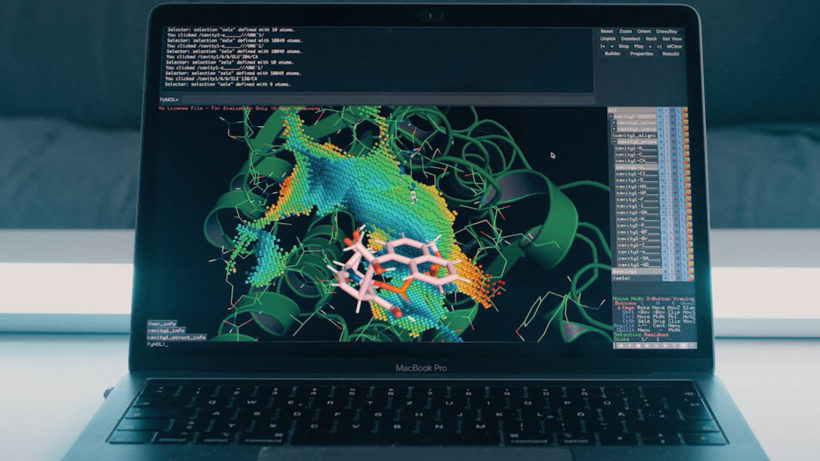 """Bioinformatische Prozesse"" am Screen. © Andreas Schlesinger"