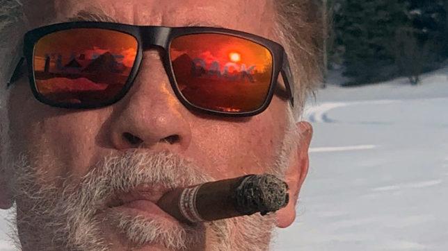Arnold Schwarzenegger mit Vision1-Sonnenbrillen. © Instagram