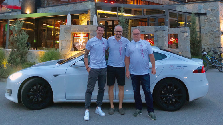 Marco Hornegger, Bernd Donner und Günter Macher vom Tesla Club Austria. © Günter Macher